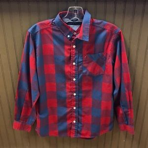 Tommy Hilfiger Button Down Shirt Boys Size 16